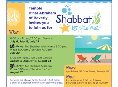 Temple B'nai Abraham Shabbat By The Sea