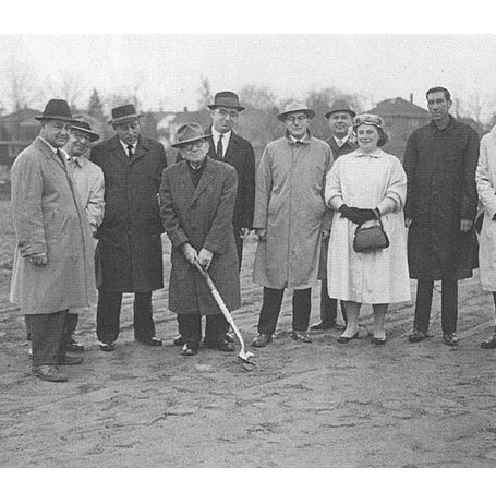 Ground breaking ceremony 1961 Temple B'nai Abraham Beverly MA