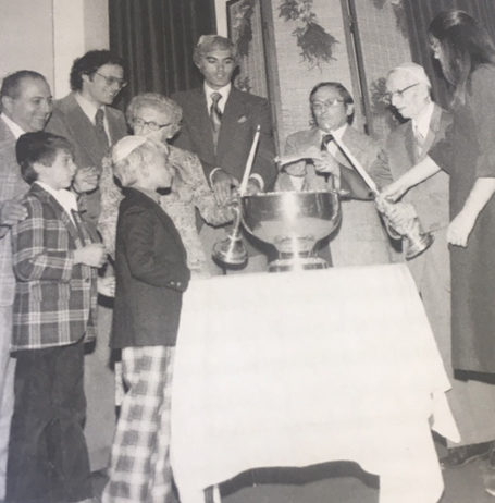 Mortgage burning ceremony. 1978 Temple B'nai Abraham Beverly MA