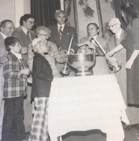 Mortgage burning ceremony. 1978 Temple B'nai Abraham Beverly MA